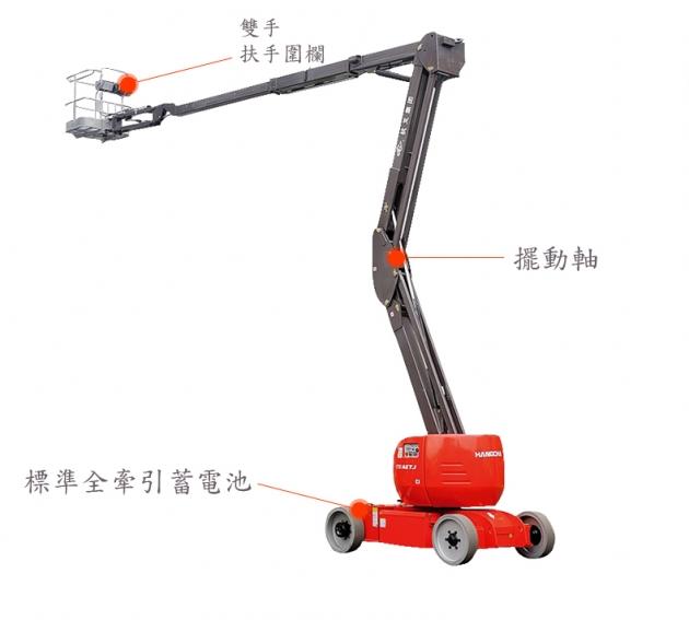 120-170AETJ 曲臂式高空作業平台/高空作業車 2
